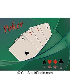 tarjetas, póker, composición