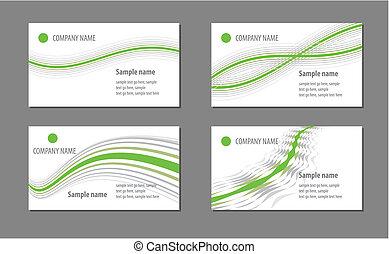 tarjetas, plantillas, empresa / negocio