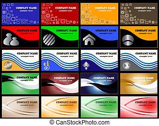 tarjetas, plantillas, vector, empresa / negocio