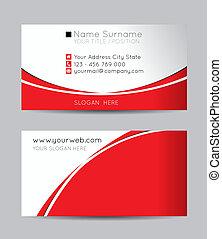 tarjetas, resumen, vector, empresa / negocio, creativo
