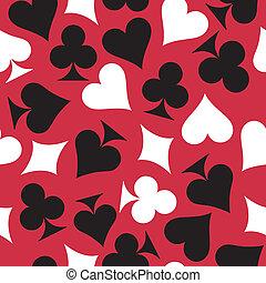 tarjetas., seamless, plano de fondo, juego