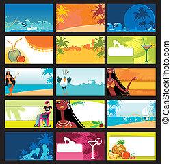tarjetas, set., vacaciones