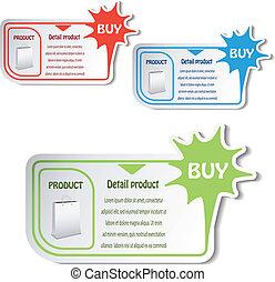 tarjetas, vector, compras