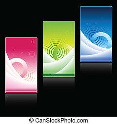 tarjetas, vector, empresa / negocio
