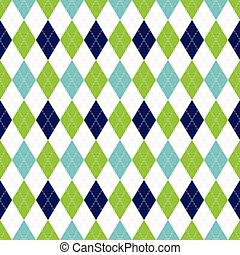 tarka, kék, motívum, argyle, pattern., seamless, color., vektor, zöld, haditengerészet