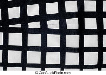 tarka, szerkezet, fekete, fehér, batiste, texture., dobókocka