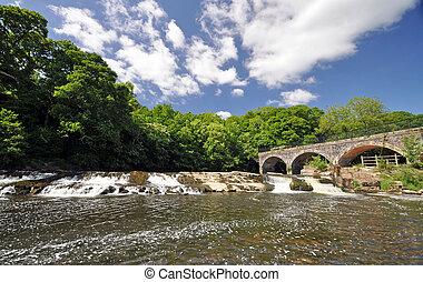 Beam Bridge on the Tarka trail, disused railway line, cycle route in North devon, England