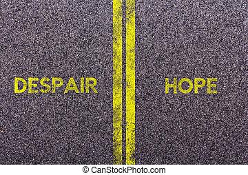 tarmac, met, de, woorden, hoop, en, wanhoop