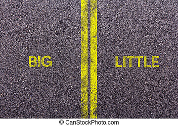 Tarmac with the words big and little