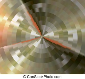 Tarnished Circles Abstract - Abstract Background - Shades of...