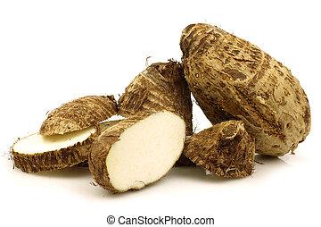 taro, (colocasia), raíz