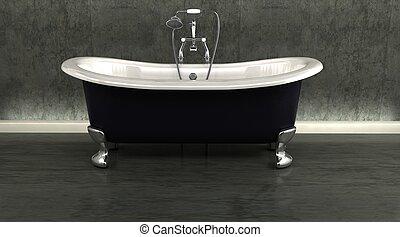 tarokk, belső, zápor, fürdőkád, klasszikus, hengermű tető, attatchment, kortárs