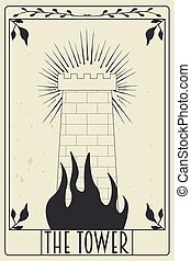 tarot card design, illustration in vector format