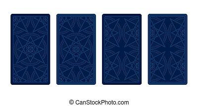 Tarot card reverse side. Classic designs