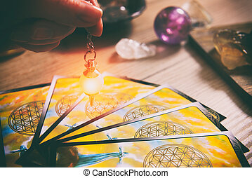 Tarot cards and dowsing