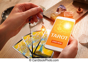 Tarot cards and mobile phone