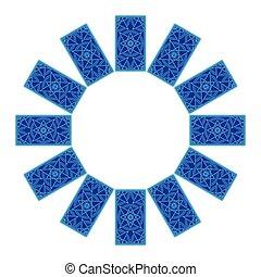 Tarot cards. Back side. Zodiac circle sread - Tarot cards by...