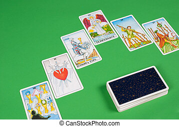 Tarot cards - Tarot card deck and a 6 card spread