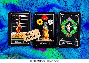 Tarot Deck - Tarot Readings on multi colored silk reading ...