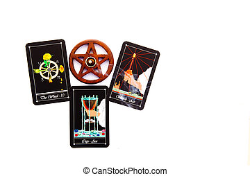 Tarot Deck - Tarot Readings with wooden pentagram incense ...
