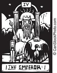 tarot, emperador, tarjeta