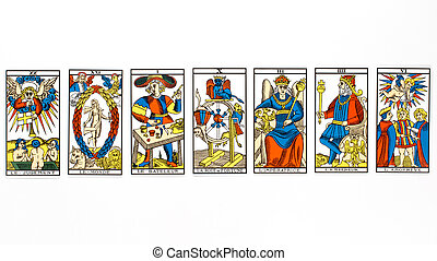 tarot, rajzol, kártya