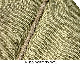 tarpaulin closeup texture, textile cord