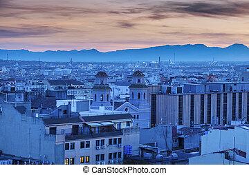 tarragona, ηλιοβασίλεμα , αρχιτεκτονική