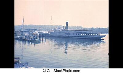 Tarragona city harbor - harbor Tarragona city with big boats...