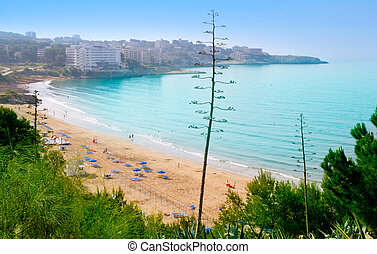 tarragona, platja, longo, larga, salou, praia