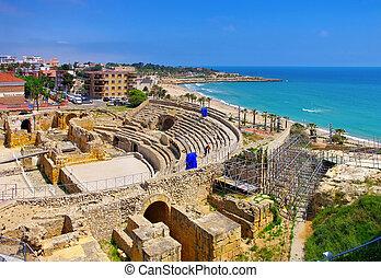 Tarragona roman amphitheatre in Spain