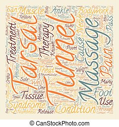 Tarsal Tunnel Syndrome And Massage Therapy text background wordcloud concept