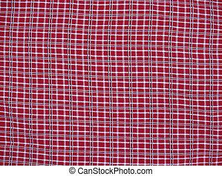 tartán, fondo rojo