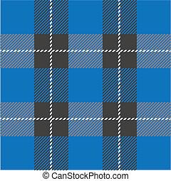 tartán, patrón, azul, seamless, tartán