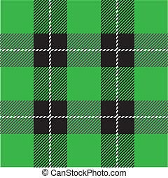 tartán, patrón, verde, tartán