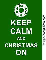 tart, karácsony, csendes