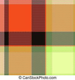 Tartan Abstract Print Pattern
