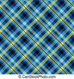 Tartan blue color seamless vector pattern