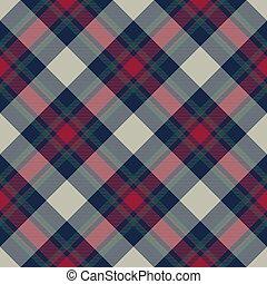 Tartan check plaid diagonal fabric texture seamless. Flat...
