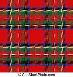 tartan, modèle, vecteur, seamless, écossais