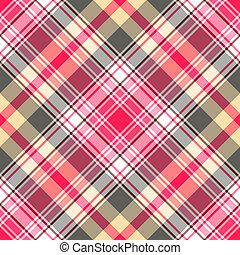 tartan, pink-gray, seamless, modèle