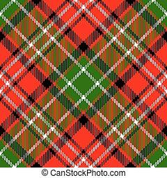 tartan plaid - Textured tartan plaid. Seamless vector...
