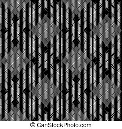 Tartan seamless vector patterns in black-and-white colors