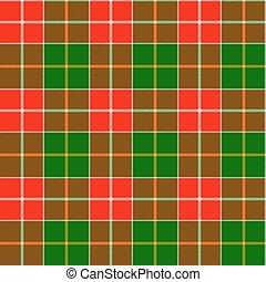 tartan, vacanza, verde rosso