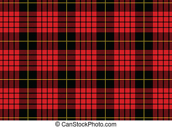 Tartan - Vector illustration of the classic tartan pattern
