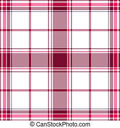 tartan, white-lilas, seamless, padrão