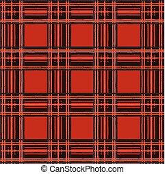 tartan, xadrez, vetorial, padrão, fundo, com, tecido, textura