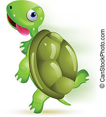 tartaruga, caricatura