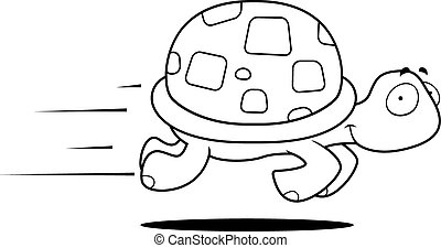 tartaruga, correndo