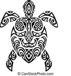 tartaruga, disegno, tatto